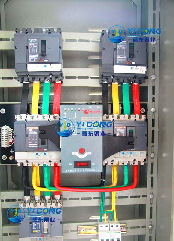 水泵专用双电源柜内部结构图