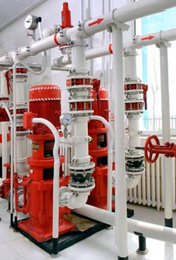 立式多级消防泵安装图片
