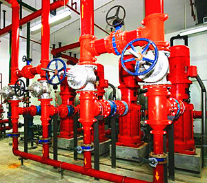 立式多级消防泵使用现场图片